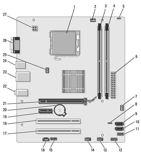 dell inspiron 530s motherboard diagram wiring diagram Dell Inspiron 530s Motherboard Diagram Dell Inspiron 530 Motherboard